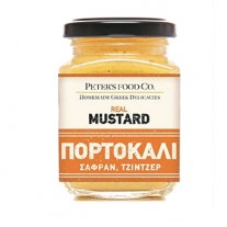 "Real Mustard Πορτοκάλι, Σαφράν Τζίντζερ ""Peter's Food & Co"""